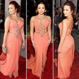 Formal Elegant Evening Dresses Sweetheart Gold Applique Formal Vestidos De Fiest Celebrity Dresses red carpet Chiffon Prom Gowns 2015