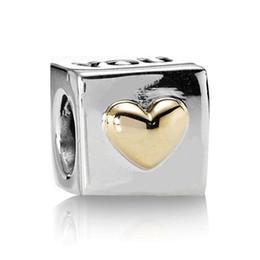 Usted colgante lindo de la joyería del estilo del corazón del oro grano europeo de la vendimia de la antigüedad del encanto de la plata esterlina 925 del oro para la cadena de pulsera de la serpiente gold heart 925 bracelet deals desde corazón del oro de la pulsera 925 proveedores