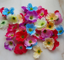 7C available Artificial silk Poppy Flower Heads for DIY decorative garland accessory wedding party headware