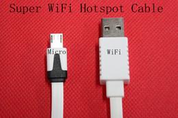 Wholesale-Super Wifi Hotspot Cable Micro USB Cable 2 in 1 Wifi+ USB Cable For Moblie Phone Wifi USB Cable