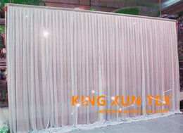 New Design Wedding Backdrop Curtain Factory Price In White Color With Pipe Stand \ Stent