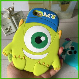 Wholesale For Apple Iphone Iphone plus Cell Phone Cases One Eyed Monster Shell Phone Cartoon Animal Mobile Case Covers
