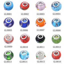 100 pcs Genuine Pandora Murano Glass Charm European more than 60 styles for your option free shipping