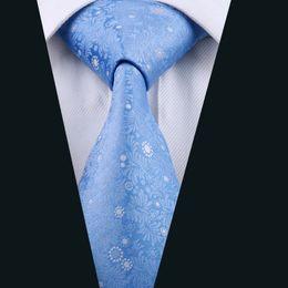 Weddin Blue Mens Neckties 8.5cm Width Silk Jacquard Woven Business Formal Work Groomsman Necktie D-1012