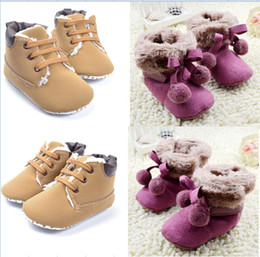 OUTLETS! Purple brown baby snow shoes,warm kids shoes,winter toddler shoes,Casual walking shoes,double ball soft snow boots!6pairs 12pcs.C