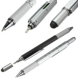 Wholesale Modern Design Overvalue Handy Tech Tool Ballpoint Pen Screwdriver Ruler Spirit Level Multifunction Tool Fit For Mens Gift