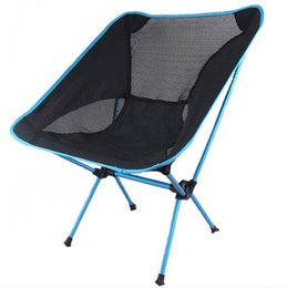 Wholesale Outdoor folding chair of aluminum alloy ultra portable multifunctional fishing chair stool sketching lazy chair