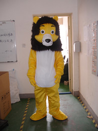 Wholesale-Professional yellow lion mascot Fancy Dress Costume Adult Size EPE Suit mascot costume