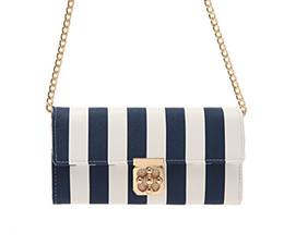 Wholesale ab979 elegant Stripe chain Stripe women shoulder bag Sling Bag Messenger Bags Cross Body new