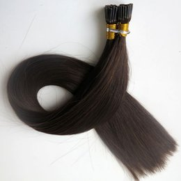 Pre bonded I Tip Brazilian human Hair Extensions 100g 100Strands 18 20 22 24inch #2 Darkest Brown Straight Indian Hair products