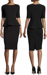 Fashion Women Sheath Dress Ruffles Peplum Dresses 15101533