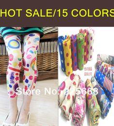 Wholesale HOT New Baby Kids Girls Pattern Printed Leggings Trousers Pants Underwear Years Free Drop Shipping