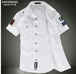 Wholesale NEW Fashion airforce uniform military short sleeve shirts men s dress shirt Bcy60