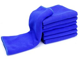 Wholesale 10 Blue x70cm Microfiber Towel Car Cleaning kitchen towel ultra absorbent Washing Cloth Car