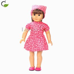 Wholesale Handmade girl Doll clothes and accessories Pink floral nurse dress Fit inch American Girl doll best gifts for my baby