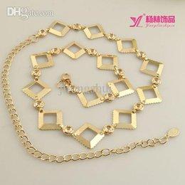 Métal rodage à vendre-La chaîne de taille de gros-Nouvelles femmes de la mode. livraison gratuite sauvages femmes diamant marquetés décoratifs crochets tour métallique