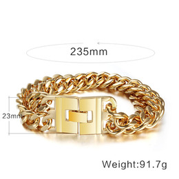 91.7g titanium steel rose gold plated bracelet for men Valentine's day gifts Christmas gift with a beautiful box Husband gift