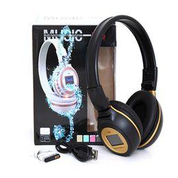 Wholesale N85 Digital Wireless Headband Headset Headphone FM SD Stero Music Player LCD Display Mp3 Player SD Card Slot With Microphone