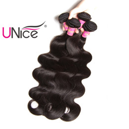 UNice Hair Peruvian Body Wave Hair Weaving Bundles 1Piece 8-30inch 100% Human Non Remy Hair Extension Natural Color