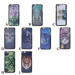 Wholesale Hot D animal Lion Leopard chien loup de Housse dur pour iPhone s s s Plus I6 I5 I4 téléphone Coque etui fundas Movil