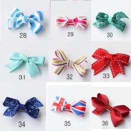 2015 Bowknot 47 styles fashion bows kid's lovely hair accessory Hair bow ribbon Bowknot cute hairpin S241L