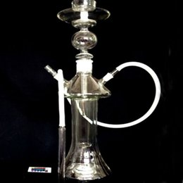 Hot Selling Glass Bong With Oil Rig And One Hose High Quality Glass Water Pipe Built-in LED Light Arab Hookah Pipe