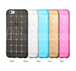 Wholesale Magic Cubee Shape Protective Cube Grid Series Soft Gel TPU Transparent Case For iPhone S S Plus Shockproof Clear Back Cover