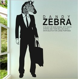 Creative PVC Zebra Wall Sticker Art Living Room Animal Poster Nest Decorative Wall Decals Home Zebra English Quote Wallpaper