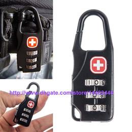 Wholesale 200pcs Bag Shaped Digits Padlock Travel Luggage Combination Suitcase Code Lock Case Resettable Combination Padlock Secret Safe Password