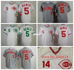 Wholesale 30 Teams All Stitched Cincinnati Reds Jersey Johnny Bench Baseball Jerseys Throwback From China Can Mix Order