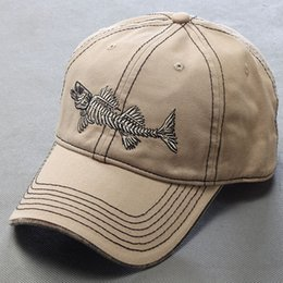 Wholesale 2016 High brand baseball hat pure cotton casual unisex men s outdoor exercise sports fish bone baseball cap snapback hat