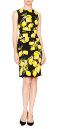 Fashion Print Women Sheath Dress Elegant Pleated Dress 119777-2