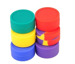 Wholesale Best Nonstick Wax Containers silicone box Silicon container Non stick food grade wax jars dab storage jar oil holder for vaporizer vape