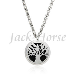 Newest fashion Essential Oil Diffuser 30mm Round Aromatherapy necklace pendant locket stainless steel wholesale free shipping