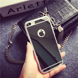 BIG D Mirror Acrylic Back Transparent Clear Phone Case for iPhone 5 5s 6 Plus Samsung Galaxy S6 Egde