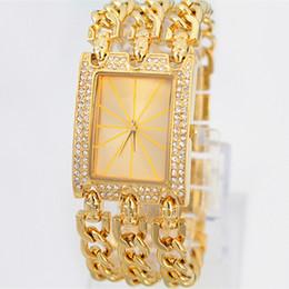 Wholesale New model Hot Sell Feral Beauty Women s Watch three Chain Stainless steel Bracelet Wristwatch Luxury dress watch Gifts