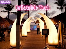 2m, 3m Decorative Party Inflatable Tusk with Color-changing Lights for Event