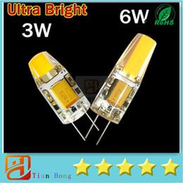 Super Bright G4 LED 12V Lamp DC AC 12v COB Led Bulb Light 3W 6W Replace Halogen Lamp 360 Beam Angle Free Shipping