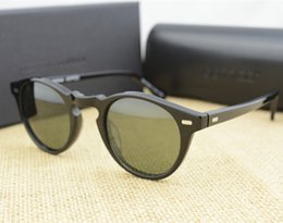 Wholesale-Vintage Men And Women Sunglasses Oliver Peoples 5186 Sun Glasses OV5186 Polarized Gregory Peck Glasses Retro Designer Men Brand