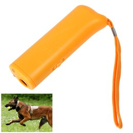 Wholesale 2015 cute product Portable in Ultrasonic Pet Dog Repeller Training Device Trainer with LED Light LIF_926