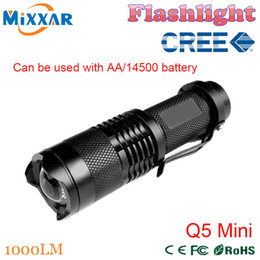 Wholesale ZK30 LM LED Flashlight LED CREE Q5 Mini Bicycle Light LED Bike Light Front Torch Modes Zoomable Light Waterproof