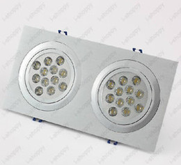 Wholesale W X12W LED Ceiling Down Light Fixture Grill Hotel Store Lamp AC V