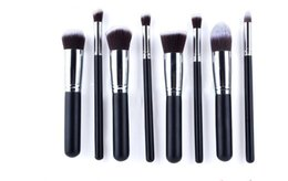 Wholesale-2015 new 10PCS makeup brushes set+PU bag at free shipping