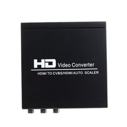 Wholesale HDMI to HDMI CVBS L R Scaler Converter With Zoom Function Supporting HDCP HDMI NTSC PAL TV Format For PS3 XBOX360