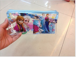 Wholesale 200Sets FROZEN Stationery Set Pencil case Ruler Sharpener Eraser School Supplies Elsa Anna Cartoon Girls Children Kid Favor Gift