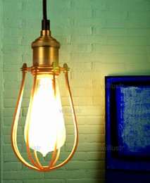 NEW Marconi Small Cage light vintage pendant lamp metal suspension lighting American country style RH loft light