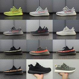 Wholesale 2017 Best 350 Boost 350 V2 Boost Cream White Zebra Semi Frozen Yellow Kanye West 350 Men Women Trainers Shoes Perfect With Box