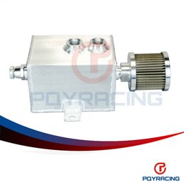 Wholesale PQY STORE L Aluminum oil catch can tank with breather drain tap LT baffled PQY9491