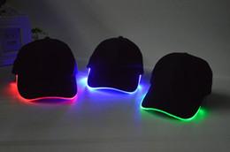 Wholesale Fashionable LED Baseball Cap DHL Attractive Led Lighting Baseball Caps