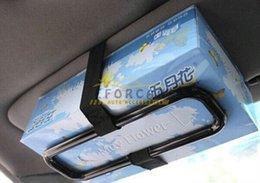 Wholesale New Car sun visor napkin Tissue paper box holder Auto seat back accessories hold clip